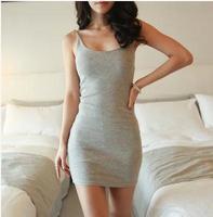 2014 summer ladies sexy nightclub Slim tight sleeveless vest Dress package hip adventure time club cotton dress bottoming