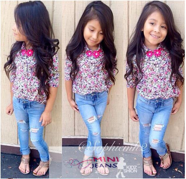 Baby boys summer clothing sets baby girl s floral jeans sets children