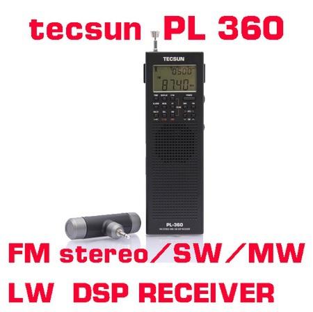 Радио Tecsun PL360 AM FM 2 DSP ETM PLL SW LW PL-360