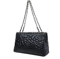 sheepskin leather handbags Women handbags chain tote shoulder genuine leather Women Handbag flower pattern chain tote bag 2015