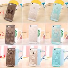 2015 novo adorável Mickey Minnie Mouse vaquinha ponto limpar JELLY TPU Gel Soft Case capa para APPLE iPhone 6 4.7 polegada(China (Mainland))