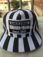 2015 Korean version of the new hip-hop cap baseball cap striped hat along gender equality 4 color