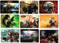 11 kinds panda Warcraft pattern Mouse pad Top quality 300X220X4MM WOW pandamen GAMING mouse Pad free