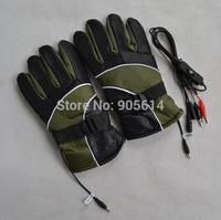 12V Warm Heated Heat Inner Motorcycle Motorbike Outdoor Gloves Army Green