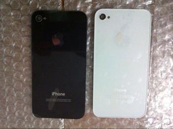 Oem крышка батарейного отсека для iPhone4 4S задняя крышка дверь задняя панель листового стекла замена корпуса черный / белый
