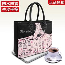 free shipping 14″ laptop bag waterproof computer bags fashion handbag,women handbag briefcase,2015 fashion shoulder bag