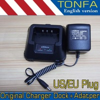 Original Tonfa UV985 Charger Dock and Power Adapter, apply to TONFA 985 UV5R, UV-5RA, UV-5RE Plus 220V EU US plug