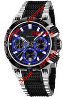 Hot sales Men's Chrono Bike F16775/5 Tour De France Two Tone and Blue Dial Stainless-Steel Quartz Watch Original Box