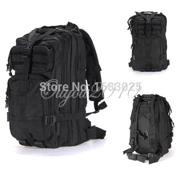 Black Outdoor Sport Military Tactical Rucksack Camping Hiking Trekking Backpack Traveling Bags