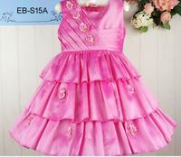 Wholesale Flower Girl's Dress Floral Girl's Cake Dress Summer Sleeveless Children Party Dress Kid's Dance Dress
