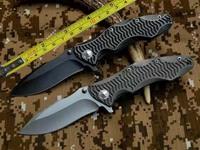 FREE SHIPPING NEW CNC D2 Blade Titanium alloy Handle High quality Folding Pocket Knife DF40