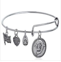 Vnistar 5pcs/lot America hot Alex and ani bangles & bracelets for women with dolphin charm VAB183