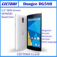 "New DOOGEE  DG580 5.5"" QHD Screen MTK6582 Quad Core Android 4.4  8GB ROM 8.0MP WCDMA smart phone dg580 cheap phone"
