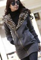 Free Shipping!  Hoodies Winter Coat Warm Zip Up Outerwear Sweatshirts Casual Hoodie Sweatshirt Size M L