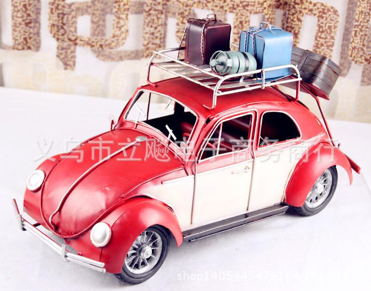 Retro tin metal crafts classic cars Cars convertible car Antique Home Decoration windsurfing(China (Mainland))