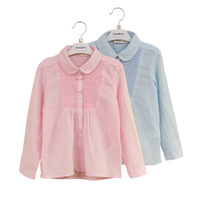 Retail New Hot Sale Kids's Casual Blouse Spring And Autumn Baby Girls Students Youngster Shirts Children's Clothing Long sleeve