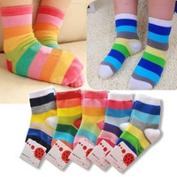 Hot Fashion Kid's socks boneless cotton autumn and winter socks hot-selling stick baby socks hiphop striped sock