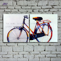Bicycle Painting Direct From Artist Hand painted Modern Abstract Oil Painting On Canvas Wall Art  Decoration No Framed CT009