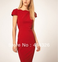 Party/Ball Dress Women Hot Chic Ladys Flouncing Dress Deep V Sexy Backless 2014 Free shipping