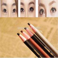4Pcs/set  Waterproof  Makeup Cosmetic Eye Liner Eyebrow Pencil Brush Tool Light Brown Black Grey Free shipping