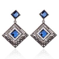2015 New Earring Fashion Women Gem Drop Earring Crystal Big Earring Jewelry For Women Jewelry ZG-0103