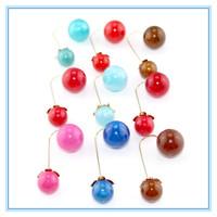 New Fashion Jewelry Earrings Round Double Pearl Stud Earrings Multicolors Big/Small Pearl Earrings