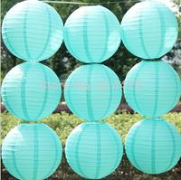Light blue/turquoise 10pcs/lot 8''(20cm) Round paper lantern paper lantern festival wedding decoration party paper lantern