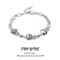 2015 Rock Long New Style With Star Multicolor Zinc Alloy Crystal Silver Gold Clownfish Bracelets For Women Best Friends