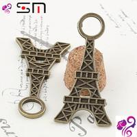 36*18MM Zakka Antique bronze diy alloy jewelry accessories wholesale, vintage Eiffel Tower charms pendant, La tour Eiffel France