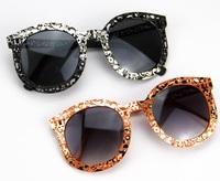 2015 New Fashion Sunglasses Vintage floral metal punk Eyeglasses summer sunglasses famous brand Women brand designer Sunglasses