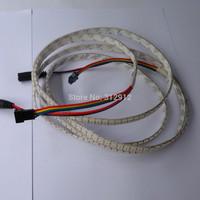 1 meter long 144pcs APA-102C addressable led pixel strip;waterproof by silicon coating;WHITE PCB;144pixels/m