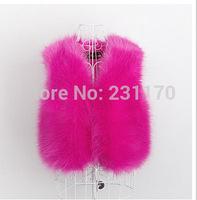 Autumn Winter Women Short Fur Vest Faux Fur Coat Female Casual Cardigans Ladies Outwear Jackets Waistcoat Sleeveless Vest