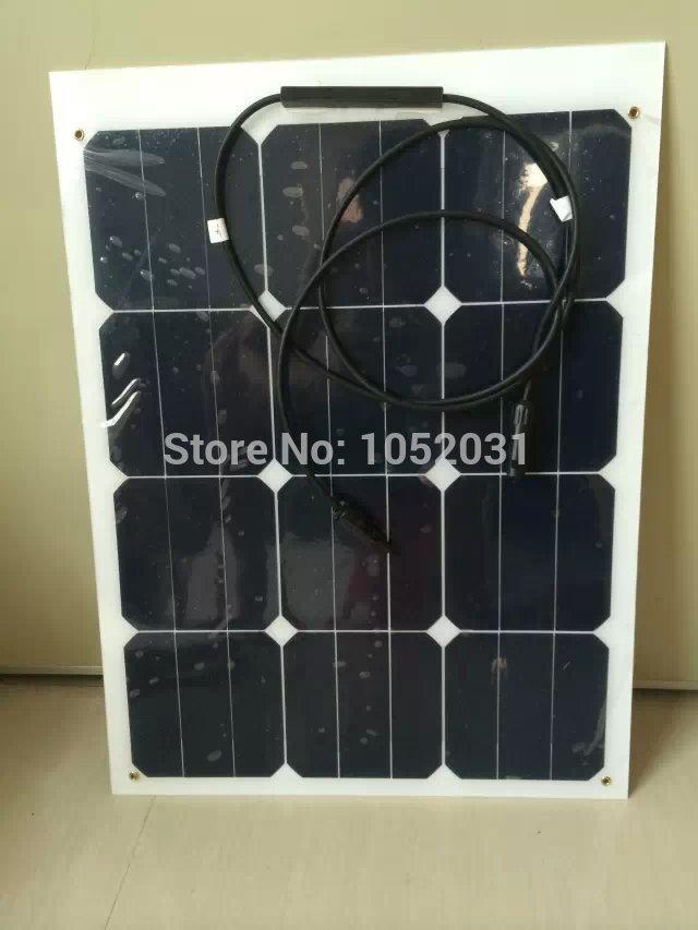Hight efficiency semi flexible solar panels 40w(China (Mainland))