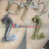 20pcs lots snake Metal 3D keyring Key Chain Badges Silver Gold