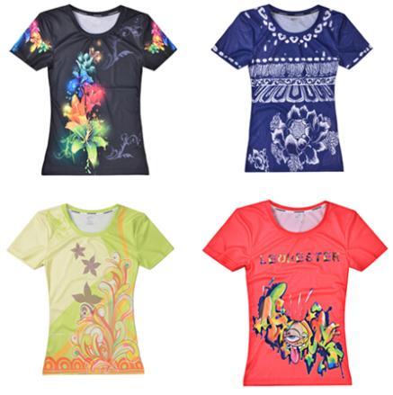 Fixgear vida na pista rápida T-shirt respirável wicking femininos casuais aptidão dos esportes do badminton ciclismo jerseys / camisa top FF(China (Mainland))