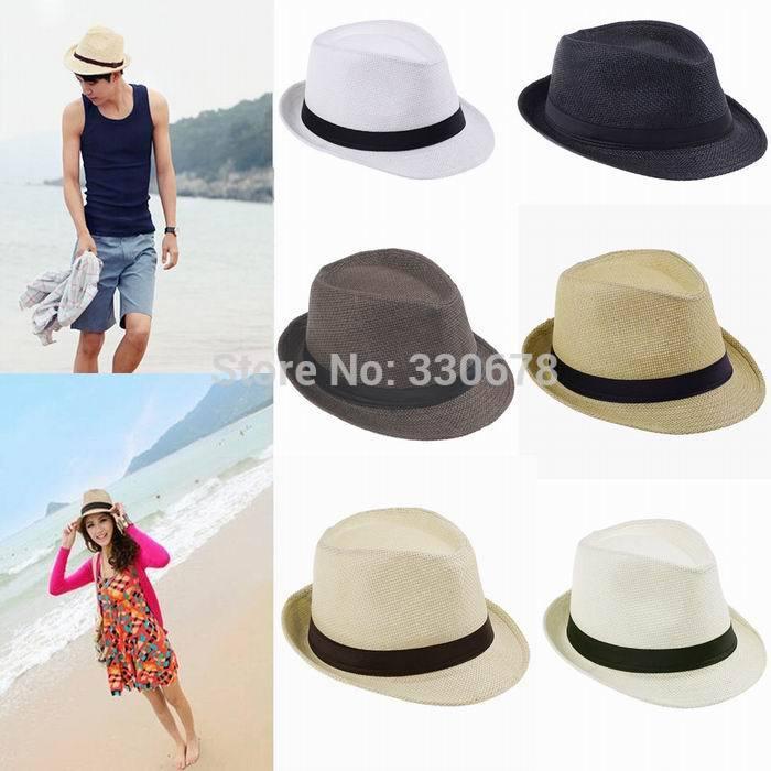 Straw Beach Hats For Men Beach Sun Straw Panama Hat