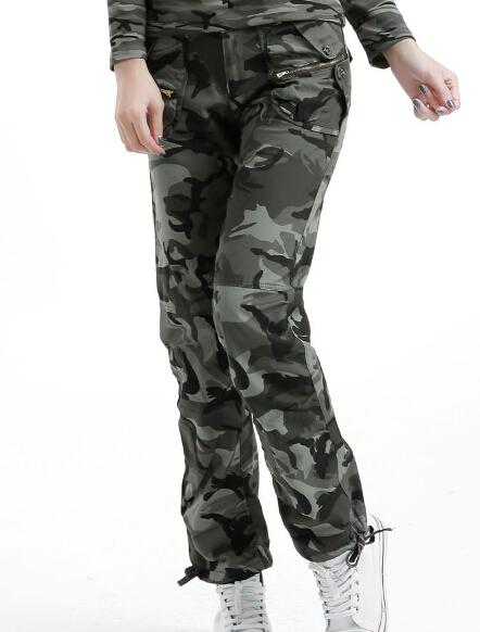 Women's Army Cargo Pants 2015 New Fashion Camouflage Pattern 100% Cotton Free Shipping(China (Mainland))