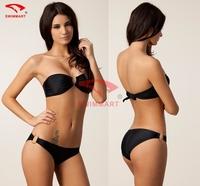 6 colors Vintage Designer Mid Waist Bandeau Top U Ringed Push up New Vintage Bikini Set