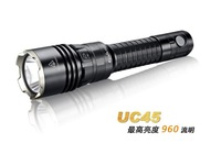 Fenix UC45 XM-L2 tatical Flashlight 960 lumens 257 Distance Waterproof Camping Torch + 1pc 3200 mAh Li battery USB Charger Kit)