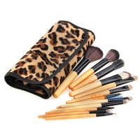 12 PCS Portable Cosmetic Make Up Foundation Eyeshadow Mascara Lip Brush Kit