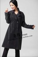 2015 New women  fashion grand lapels wool coat