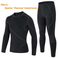 WaKa Outdoor Winter Sports Fleece Thermal Underwear Men Brand Sportswear Athletic Mens Suits Long Johns, Keep Warm,Breathable