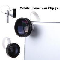 Universal Camera Lens Clip 5x Super Telephoto Teleconverter Mobile Phone Lens for iPhone 6 5 5s Samsung S4 S5 Note 4 Nexus 5 HTC
