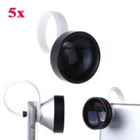 Universal 5X Super Telephoto Telescope Clip On Mobile Phone Lens Camera Teleconverter For iPhone iPad Samsung Smartphone Tablet