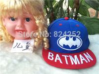 2015 new children's Batman cartoon baby hat baseball cap hip-hop 5 color