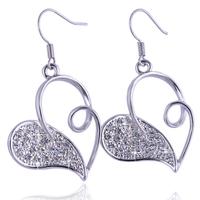 2015 New Upscale Earrings, Rhinestone Earrings Inlaid. Plated Heart-Shaped Jewelry. ZG-0108