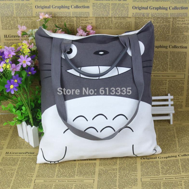 Anime Totoro Ptinting Messenger Bags and Shopping Handbag Recreation bag Cartoon Canvas Schoolbags(China (Mainland))
