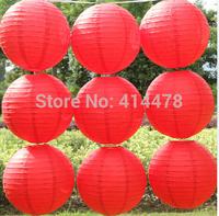 2015 New Red10pcs/lot 12''(30cm) Round paper lantern chinese paper lantern festival birthday wedding decoration party Supplies