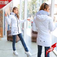 2014 medium-long down coat slim casual all-match women's outerwear plus size