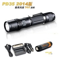 Free shipping (Fenix PD35 Cree XM-L2  960 Lumen LED Flashlight+Fenix C1 charger+Fenix ARB-L2S 3400 mah 18650 lithium battery )